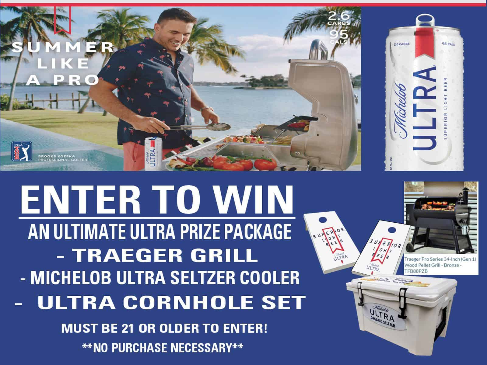 For Facebook-Enter to Win -Traeger Grill- Ultra Cooler and Cornhole Set